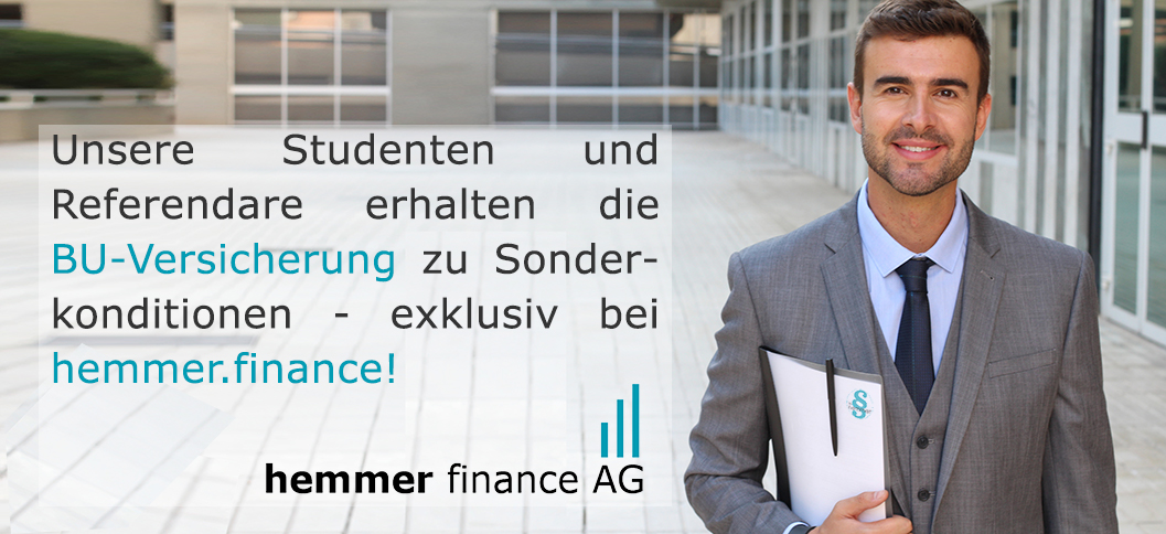 - hemmer.finance - Unsere Studenten und Referendare erhalten die BU-Versicherung zu Sonderkonditionen - exklusiv bei hemmer.finance!